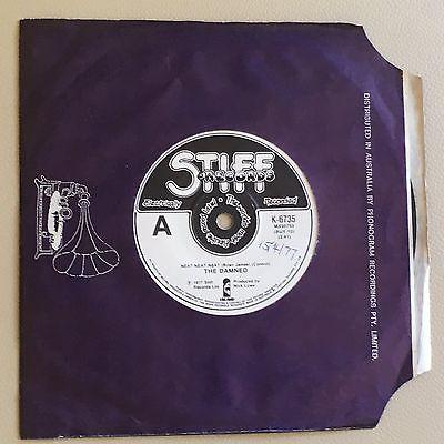 The Damned   Neat Neat Neat Aussie Oz 7  STIFF N Mint RARE PUNK 3 Track