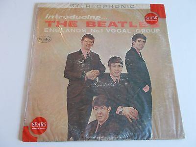 Beatles1964 Vee Jay VJ Stereo Introducing LP wSears BaggieVGVGRARE