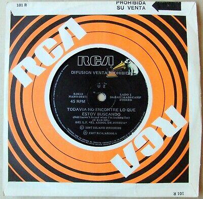 U2 45 PROMO I Still Haven t Found What SOUTHAMERICA 7  NM Spanish Titles 1987