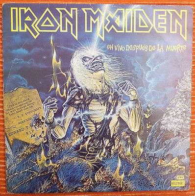IRON MAIDEN LIVE AFTER DEATH VOL 1 URUGUAY SPANISH TITLES RARE PROMO EDITION LP