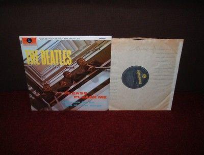 BEATLES Please Please Me LP 1965 PARLOPHONE MONO PMC 1202 BRILLIANT EXAMPLE