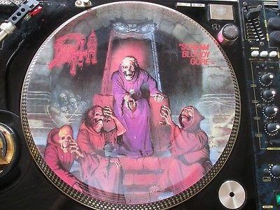 Death   Scream Bloody Gore Mega Rare 12  Promo Picture Disc Promo Single LP NM