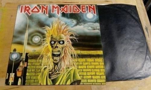 IRON MAIDEN SAME EPONYMOUS FIRST VERY RARE HAND SIGNED UK VINYL LP 1980