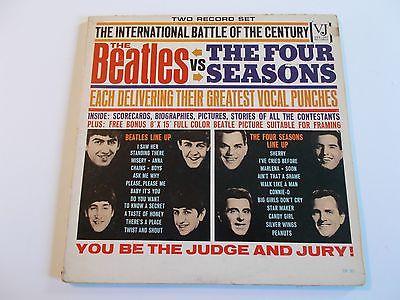 Beatles1964 Vee Jay VJ Beatles Vs Four Seasons 2 LP Set wPosterVGVGRARE