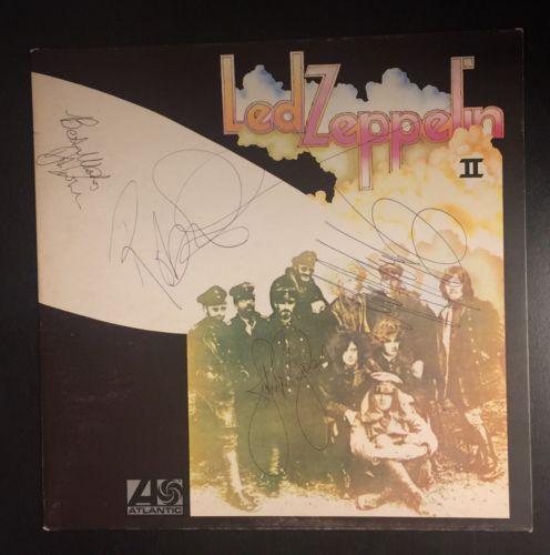 Led Zeppelin II  Fully Signed by The Band  Including John Bonham   UK vinyl LP
