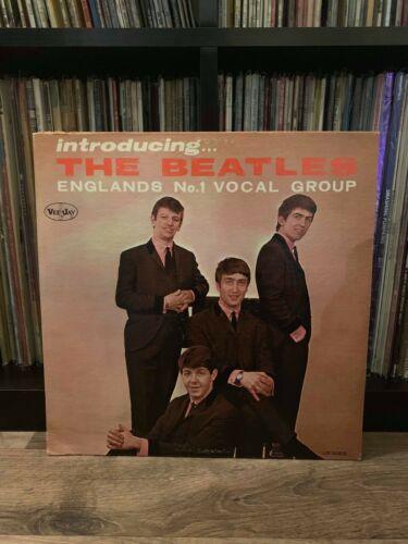 Beatles LP  INTRODUCING THE BEATLES  Version 1 RARE LABEL VARIATION    Authentic