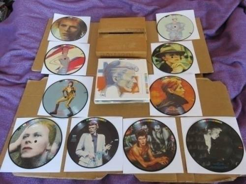 DAVID BOWIE Fashions 10x 7  UK ORIGINAL PICTURE DISC SET IN WALLET   BOW100 BOX