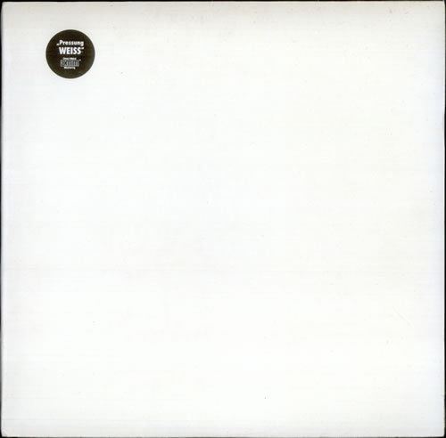 THE BEATLES White Album  RARE 1970s German Direct Metal Master 2xLP WHITE VINYL