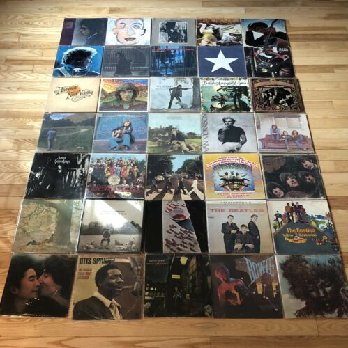 Critical Psych Rock Vinyl Lot 144 Zeppelin Beatles Doors Floyd Dylan Hendrix WHO