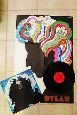 TOP M 67 ORIG LP  DAZZLING POPART POSTER  BOB DYLAN  63 66 Folk psych GEM