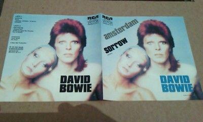 David BowieAmsterdamSorrowMegarare Cover RCA Mexico 7 Record only cover