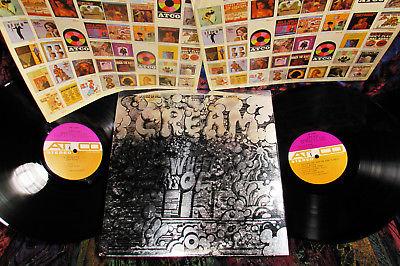 2 LP ORIG 1968 SILVER FOIL CREAM   WHEELS Hard Psych CLAPTON BRUCE BAKER Blues