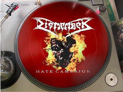 Dismember                 Hate Campaign Rare Death Metal Rock 12  Picture Disc Promo LP NM