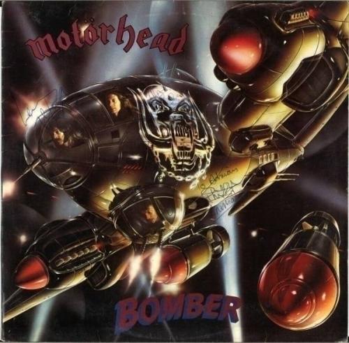 MOTORHEAD Bomber FULLY SIGNED Vinyl LP Lemmy Eddie Phil Ace of Spades AUTOGRAPH