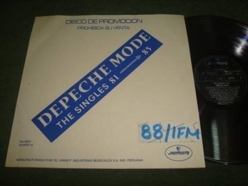 DEPECHE MODE THE SINGLES 8185  PROMO VIRREY PERU LP 1988