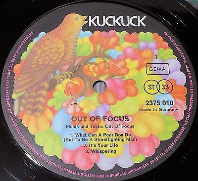 Out of Focus S T Same 1971 LP Kuckuck 2375 010 VG  VG  Krautrock