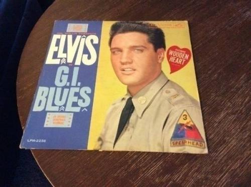 ELVIS PRESLEY G I  Blues LP  1960 RCA LPM 2256 mono WOODEN HEART Sticker