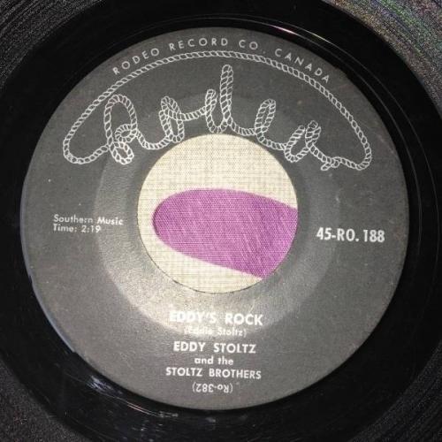 EDDY STOLTZ Rock N  Roll Riot Canada Rockabilly 7  45 Rare orig Rodeo Brothers