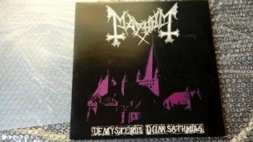 MAYHEM DE MYSTERIIS DOM SATHANAS RECORD VINYL FIRST PRESS 1994