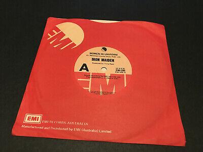 IRON MAIDEN WOMEN IN UNIFORM AUSTRALIAN 7  VINYL RECORD 45 EMI 1980