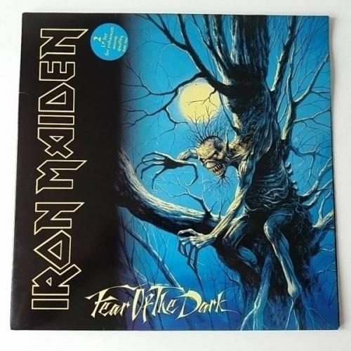 Iron Maiden   Fear of the Dark   Vinyl LP UK 1st Press   Merch Insert NM
