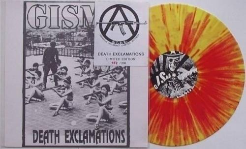 GISM   Death Exclamations LP YELLOW VINYL 200 ONLY G I S M  Sakevi Japan Punk HC