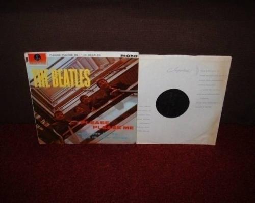 THE BEATLES Please Please Me LP 1963 BLACK  GOLD MONO 1st Press DICK JAMES