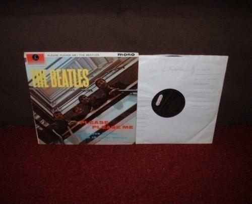 BEATLES Please Please Me LP 1963 BLACK  GOLD MONO 1st Press FACTORY SAMPLE