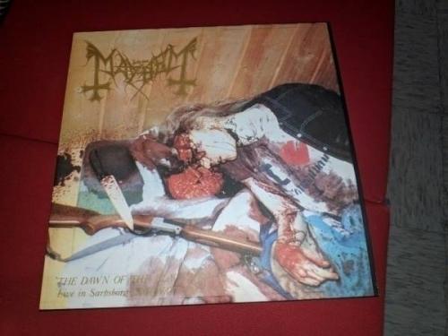 Mayhem        The Dawn Of The Black Hearts LP Darkthrone Vinyl