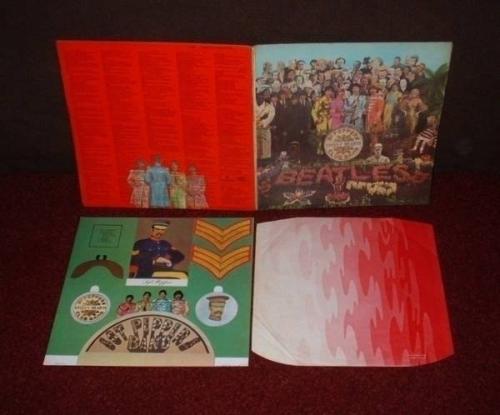 BEATLES Sgt Pepper LP 1967 MONO 1st Press  INSERT MISTY COVER SAMPLE