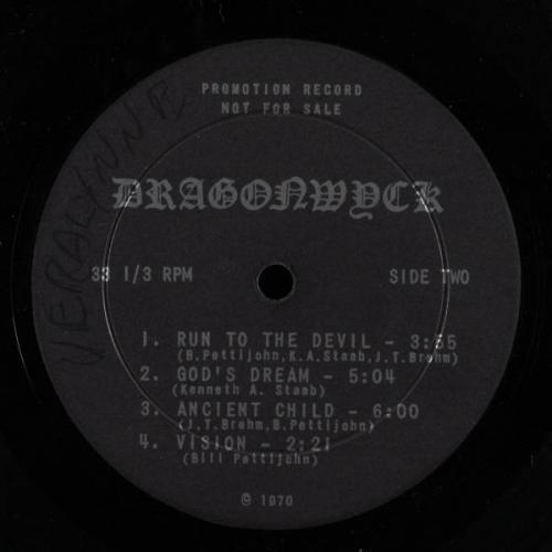 DRAGONWYCK Self Titled LP VG  rare ohio psych hard rock HEAR