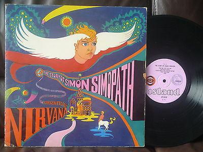 NIRVANA Story of Simon Simopath ORIG UK MONO LP Pink Island POP PSYCH Eye ball