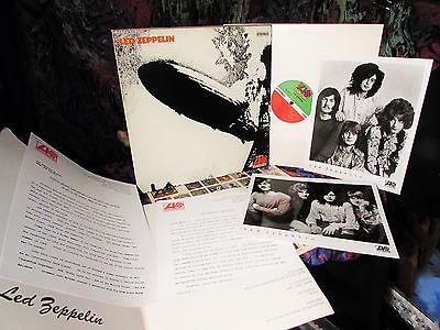 LP   PROMO INSERTS  69 LED ZEPPELIN 1   Hard Heavy Blues Psych PAGE Yardbirds