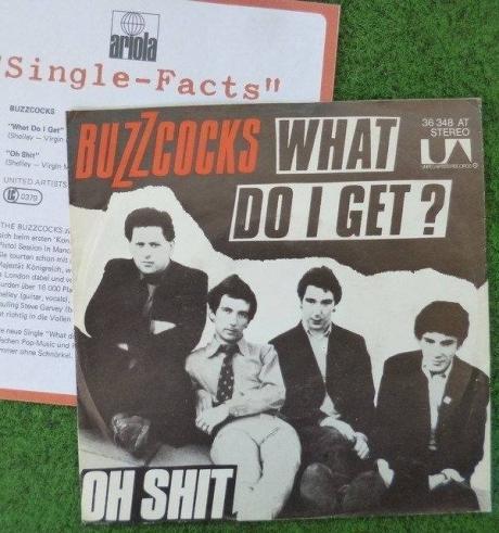BUZZCOCKS 7        rare MISPRINT unique GERMAN cover  What Do I get  1978 punk DAMNED