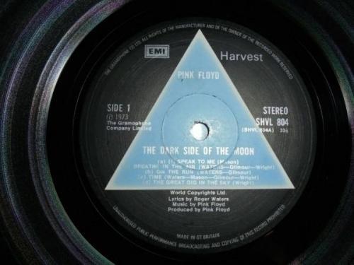 PINK FLOYD Dark Side Of The Moon UK  Solid Blue  HARVEST A2 B2 Orig  EX  VINYL