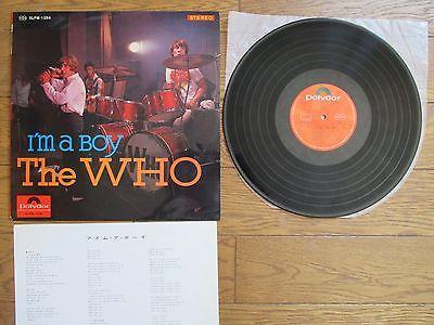THE WHO I m A Boy JAPAN LP w  Thin Sleeve   Insert SLPM 1354