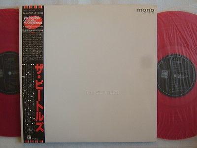 RED VINYL MONO  THE BEATLES WHITE ALBUM  NM MINT CLEAN COPY BLACK OBI COMPLET