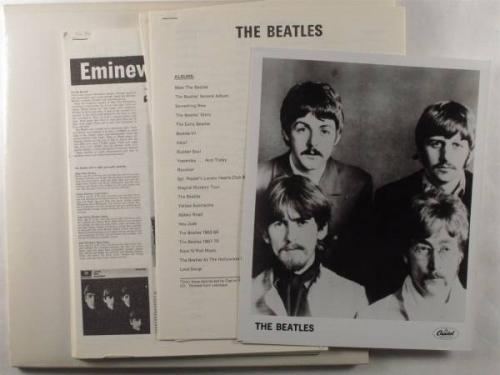BEATLES White Album CAPITOL 2XLP NM white vinyl promo wpress kitposterinserts