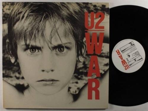 U2 War ISLAND LP VG  uk autographed gatefold
