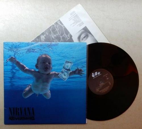 NIRVANA  Nevermind LP DGC 24425 original U S  vinyl Cobain