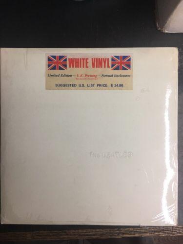 The Beatles The Beatles On Apple Sealed White Vinyl Raised Letters UK
