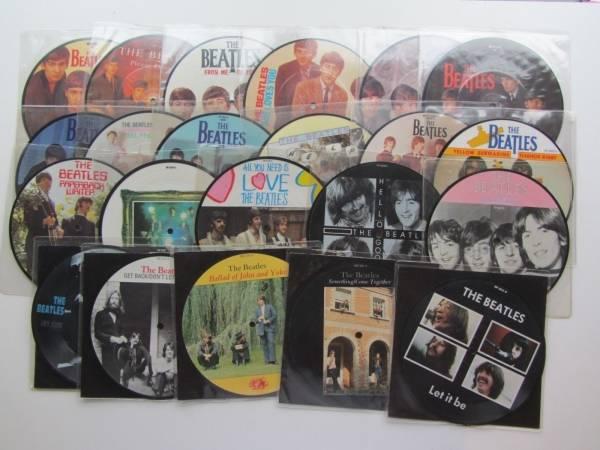 THE BEATLES    FULL SET 22 x 7   LTD ED 20th ANNIVERSARY PICTURE DISCS NM