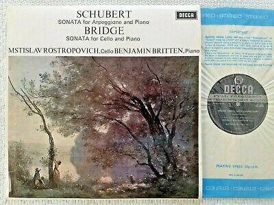 SCHUBERT   BRIDGE   ROSTROPOVICH   BRITTEN  UK DECCA LP  SXL 6426  STEREO ED1