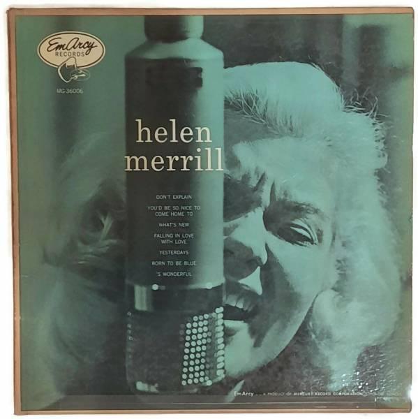 RARE JAZZ Helen Merril   S T LP Emarcy DG Mono Silver Rim 1955 HEAR
