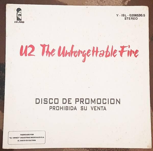 U2 The Unforgettable Fire LP PROMO South America PEERUVIAN MEGA RARE