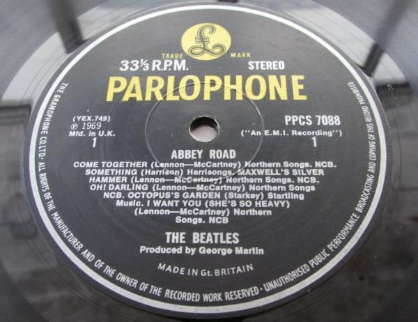 THE BEATLES ABBEY ROAD LP UK EXPORT PPCS 7088  YELLOW   BLACK