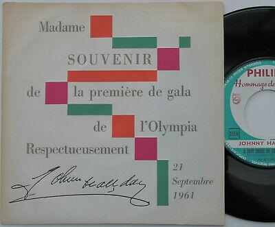 JOHNNY HALLYDAY SP 45t PROMO Olympia 21 09 61 Jamais Jou   EX  MINT