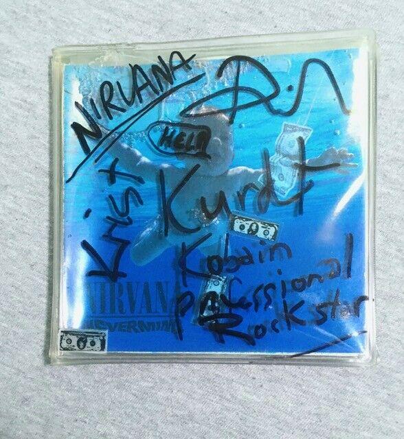 band SIGNED RARE SQUIDGY PACK cd LIQUID NIRVANA Kurt Nevermind Bleach In Utero