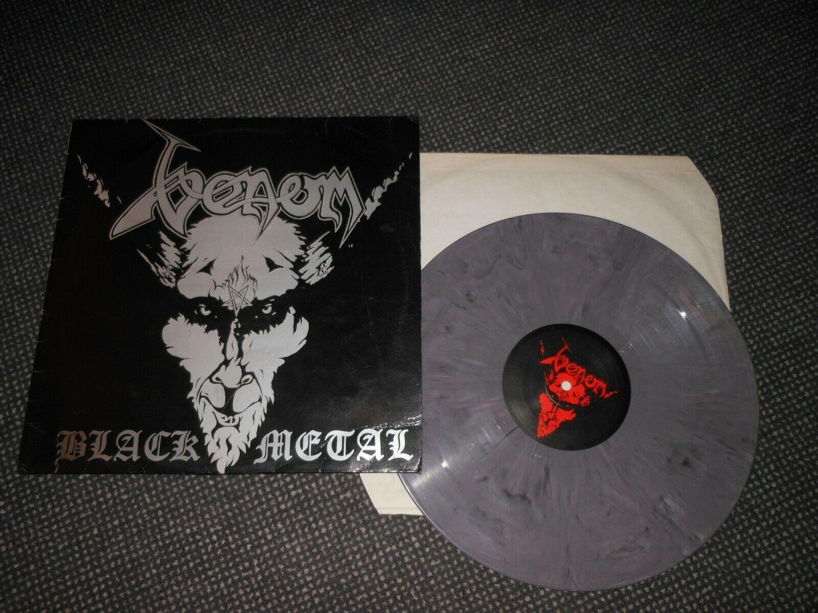 VENOM LP BLACK METAL ULTRA RARE GREY VIOLET MARBLED VINYL EX VG SLAYER METALLICA