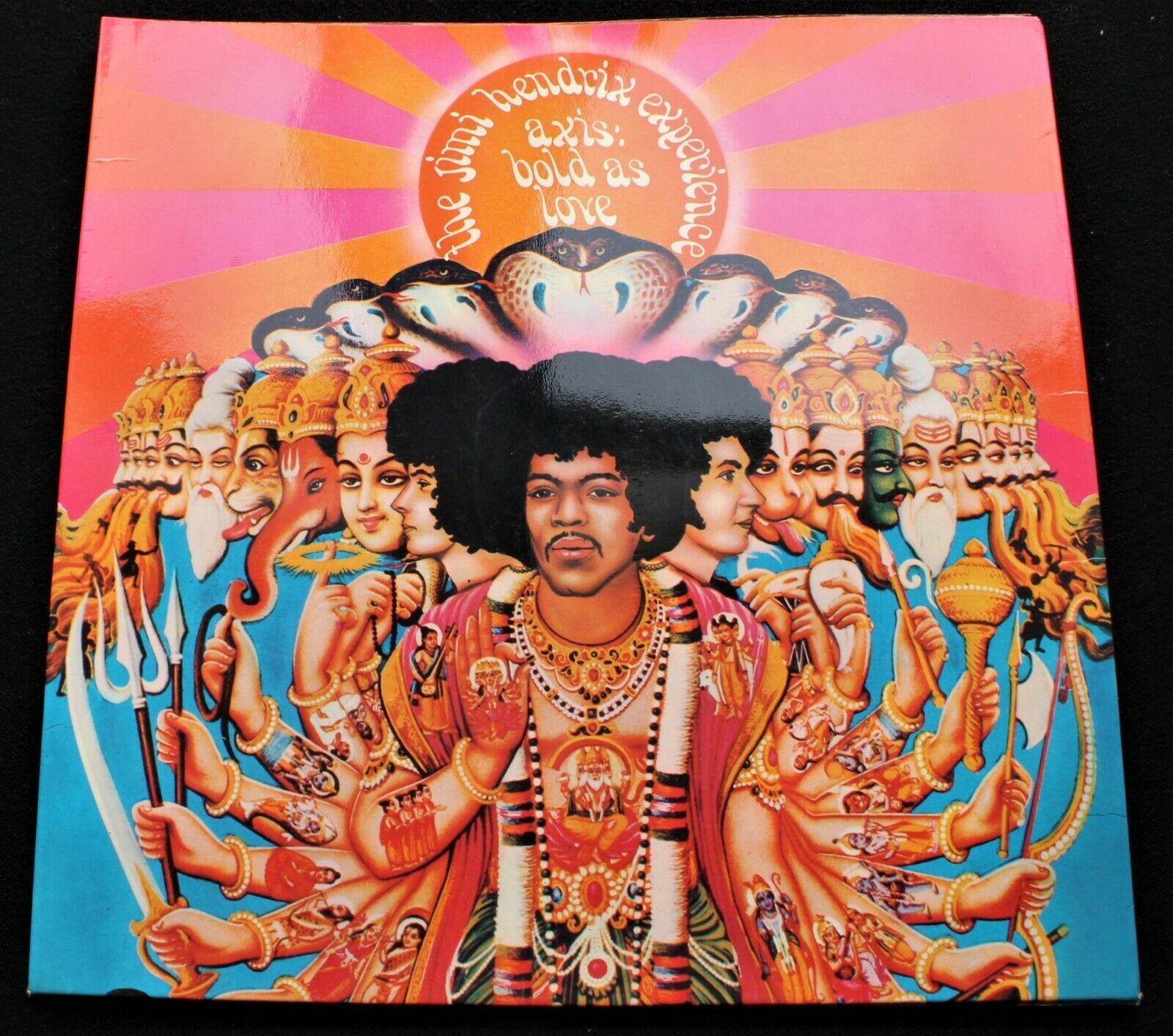 JIMI HENDRIX Axis Bold As Love UK 1967 MONO 1st pressing  MINT   Psych LP INSERT